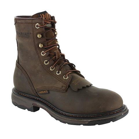 "Ariat Men's 8"" Brown Workhog Waterproof Work Boots 10011939"