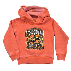 Cowboy Hardware Youth There's Tough, Orange Hoodie 371146-265 - Painted Cowgirl Western Store