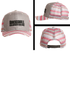 Rock & Roll Denim Grey & Multi Aztec Snapback Ball Cap CBC8526 - Painted Cowgirl Western Store
