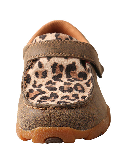 Twisted X Youth Leopard and Bomber Driving Moccasin CDM0004 - Painted Cowgirl Western Store