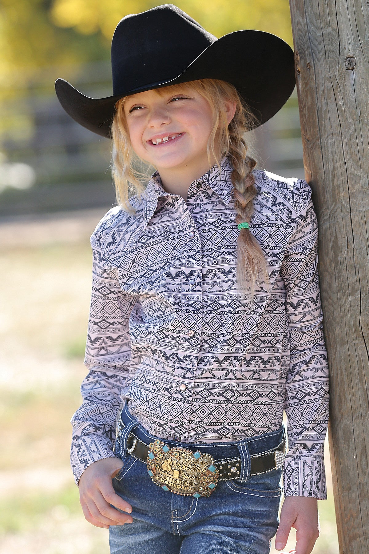 Cruel Girl Girls' & Infant Pink & Black Western Design Snap Up CTW3300010 CTW3301003 CTW3302003