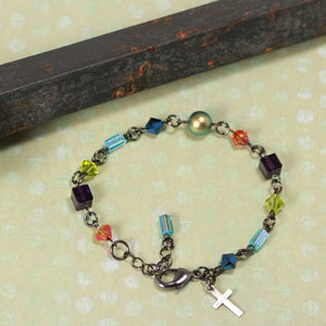 Cool Water of Montana Stained Glass Windows Bracelet BC32-157