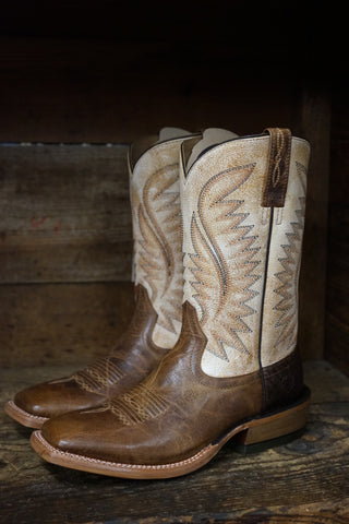 Ariat Men's Ringer California Clay & Tarnished Alabaster Square Toe Boots 10031457