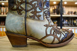 Corral Ladies Mint Maple Flower Overlay and Studs Cowgirl Boots C3176