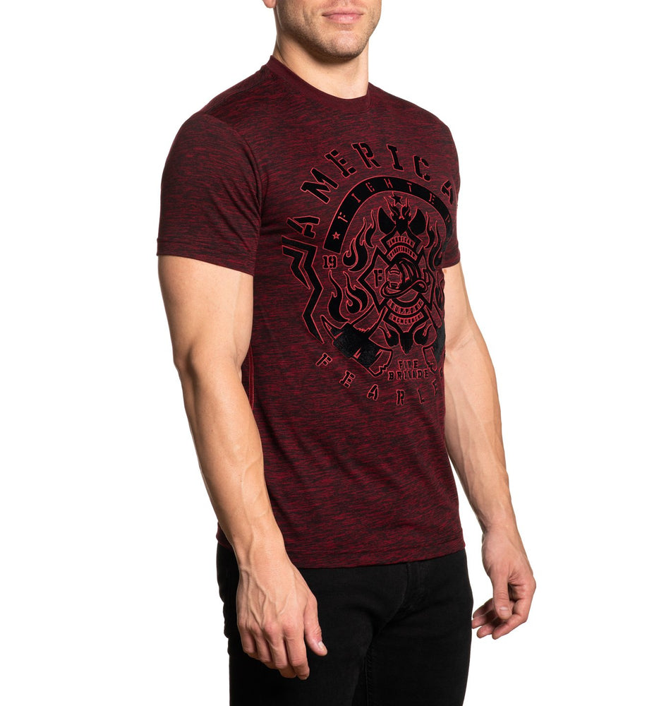American Fighter Men's Rusted Red Firefighters Bovill Tee FM11165 - Painted Cowgirl Western Store