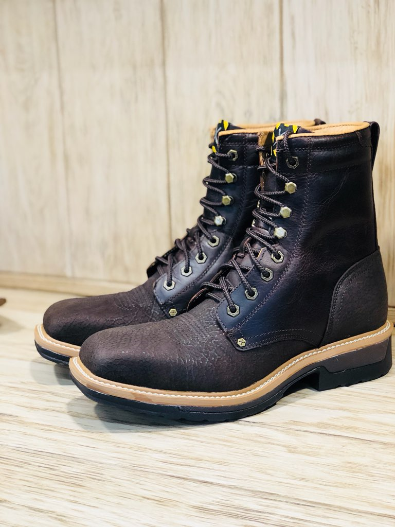 9a4f83d7319 Twisted X Men's Lite Cowboy Brown Lacer Alloy Toe Work Boot MLCAL01 ...