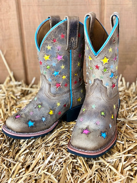 Dan Post Youth Starlett Square Toe Western Boots DPC2952 DPC3952 - Painted Cowgirl Western Store