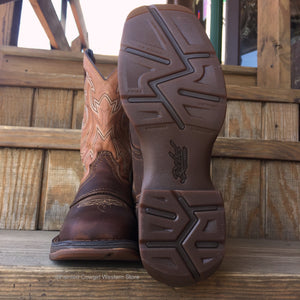 Load image into Gallery viewer, Durango Rebel Saddle Up Brown Square Toe Western Boot DB4442
