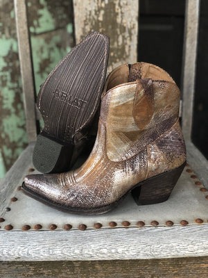 Ariat Women's Circuit Cruz Brushed Silver Ankle Boots 10029644 - Painted Cowgirl Western Store