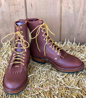 White's Boots Men's Red Dog Vintage Packer Work Boots V16508 MADE IN THE USA - Painted Cowgirl Western Store