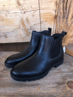 Born Shoe Company Men's Pike Black Leather Slip On Boot H58403