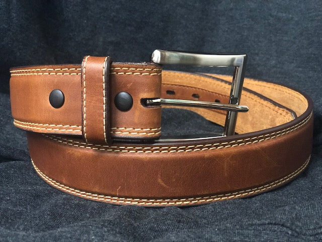Twisted X Men's Basic Brown Leather Belt XRB-4