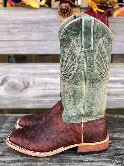 Anderson Bean Men's Sienna Lux Ostrich & Mallard Mad Dog Square Toe Boots 323453