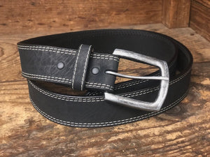 Twisted X Men's Black Elephant Print Leather Belt XWF-26 - Painted Cowgirl Western Store