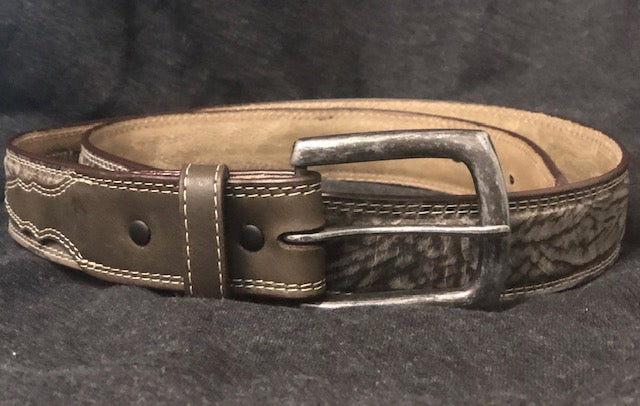 Twisted X Men's Dark Grey Elephant Print Western Belt XWF-19