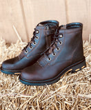 Ariat Youth Workhog Brown Leather Lace Up Work Boot 10024998