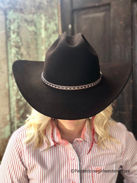 Stetson New Frontier Collection Crowley Chocolate Western Hat - Painted Cowgirl Western Store