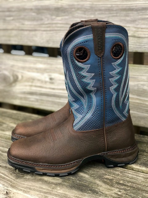 Durango Men's Maverick XP Brown & Blue Jean Square Toe Work Boots DDB0268