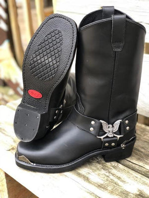 Dingo Chopper Black Eagle Harness Square Toe Boots DI19053 - Painted Cowgirl Western Store