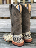 Anderson Bean Men's Genuine Diamondback Rattlesnake Square Toe Western Boots 4220M