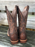 Corral Women's Tan Crystal Leaf Square Toe Boots C2957