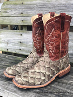 Anderson Bean Men's Mink Matte & Rust Lava Big Bass Square Toe Boots 328547