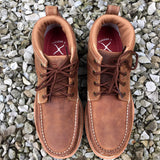 Twisted X Men's Brown Oil/Slip Resistant Crepe Sole Steel Toe Work Shoes MCAS001