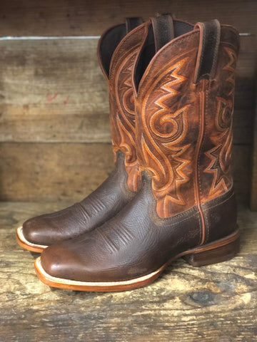 Durango Men's Arena Pro Chestnut & Burnt Orange Square Toe Boots DDB0255