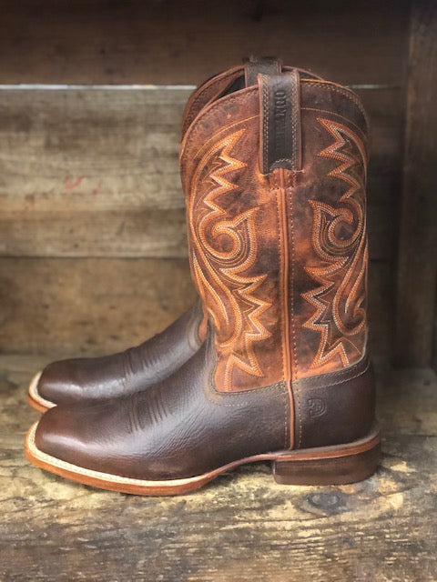 Durango Men's Arena Pro Chestnut & Burnt Orange Square Toe Boots DDB0255 - Painted Cowgirl Western Store