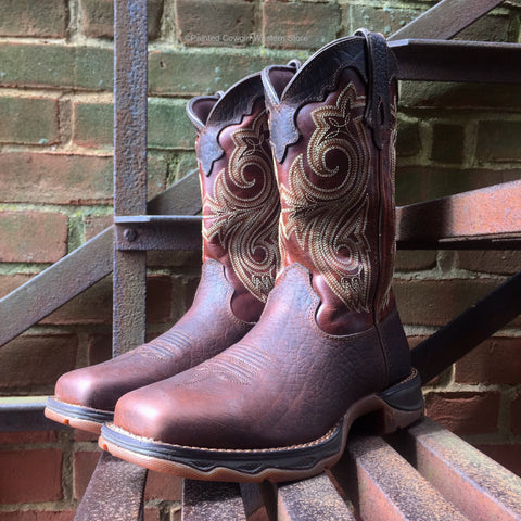 Durango Lady Rebel Women's Brown Steel Toe Western Work Boot RD3315