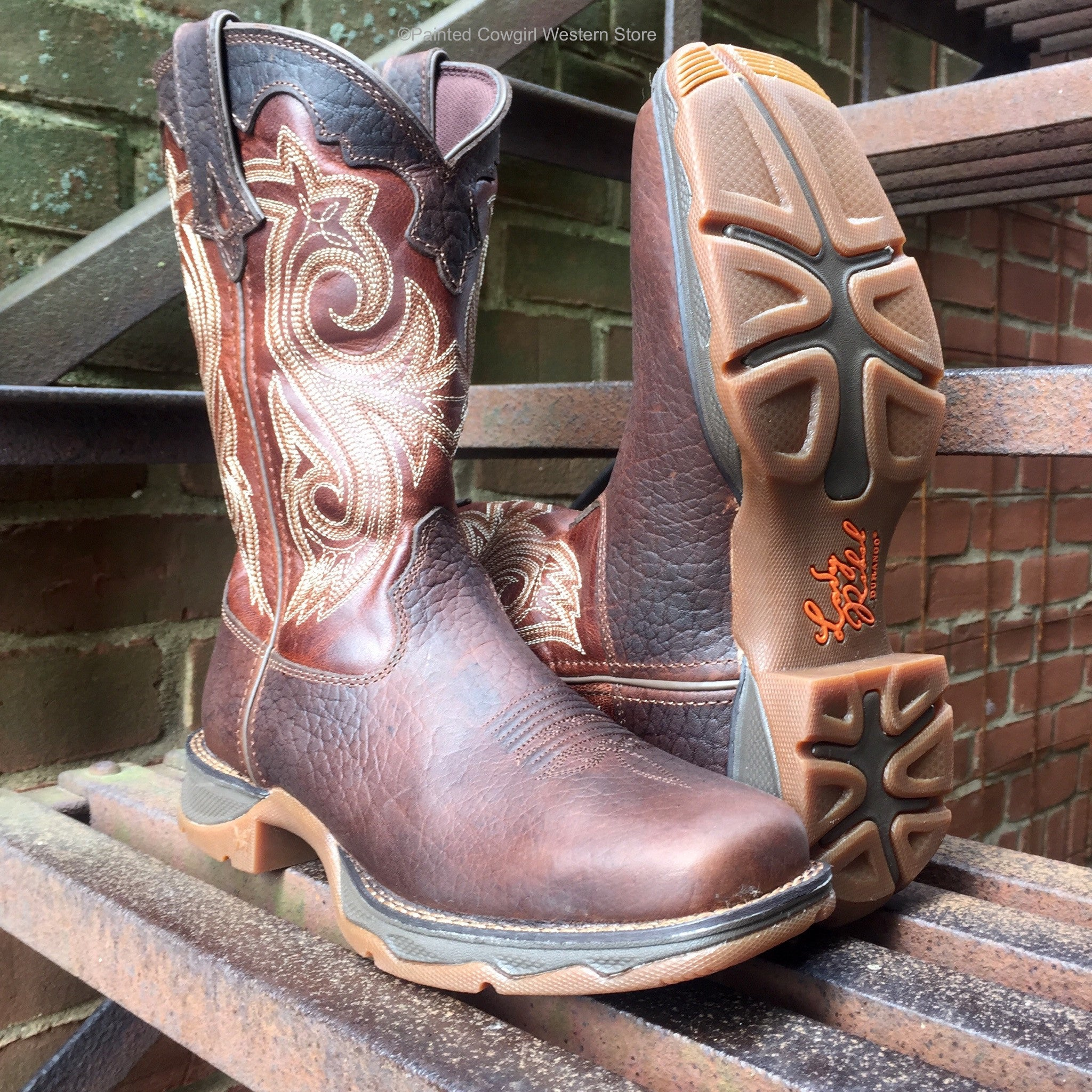 Durango Lady Rebel Women S Brown Steel Toe Western Work