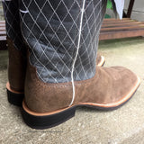 Twisted X Men's Ruff Stock Brown Bomber and Blue Western Boots MRS0027