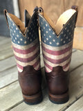 Corral Women's Distressed Brown Whip Stitched & Studded Square Toe Cowgirl Boot C2918