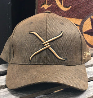 Twisted X Brown Oilskin Logo Embroidered Adjustable Ball Cap XC-1