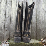 Circle G By Corral Women's Distressed Leather Harness Round Toe Boots P5099