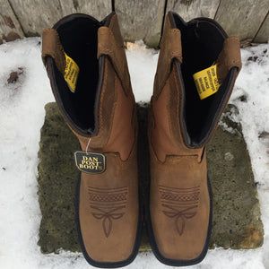 Dan Post Children's Brown Cowboy Certified Everest Leather Work Boots DPC2699
