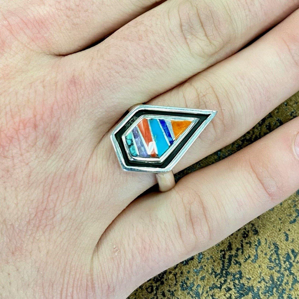 A Touch Of Santa Fe Women's Bullet Shape Sterling Silver Ring R101
