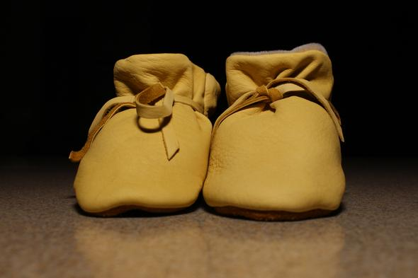Geier Glove Co. Baby Velux Lined Deerskin Mocs NAT Baby Moc-LDX - Painted Cowgirl Western Store