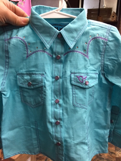 b01d17ad5a27c2 Cowgirl Hardware Infant Toddler Turquoise/Purple Show Shirt 825322 ...