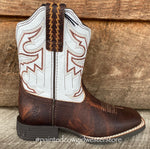 Ariat Children and Youth Sorting Pen Brown Square Toe Western Boots 10035990, 10036036