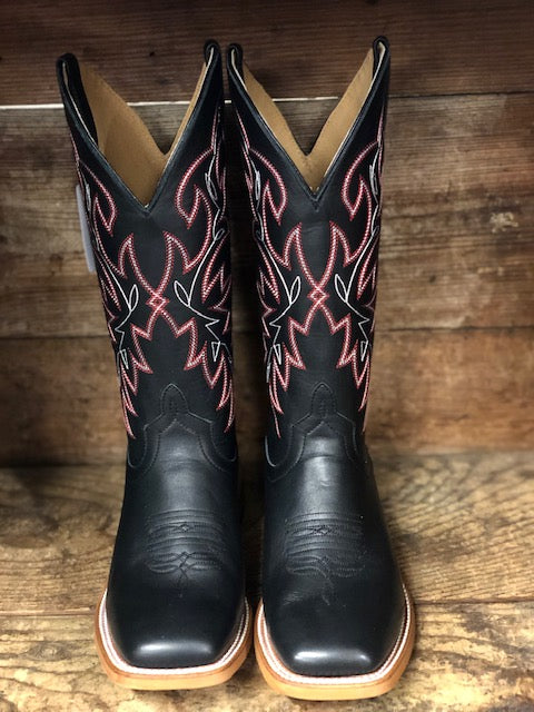 Load image into Gallery viewer, HorsePower Men's Black Magic Square Toe Western Boots HP1835 - Painted Cowgirl Western Store