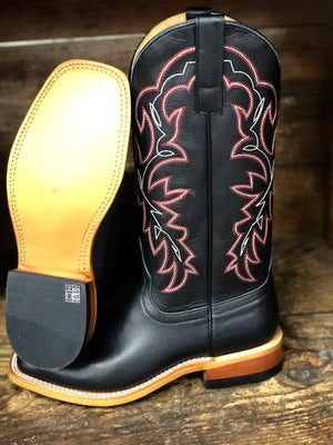 HorsePower Men's Black Magic Square Toe Western Boots HP1835 - Painted Cowgirl Western Store