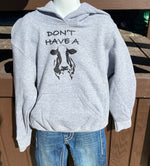 Youth Have A Cow Heather Grey Hoodie KHD-2176