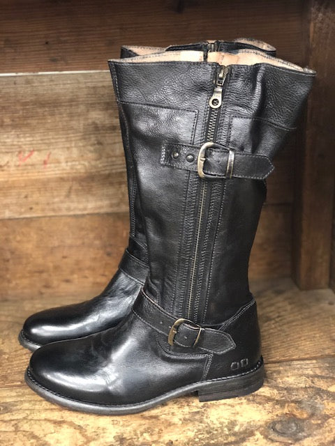 Load image into Gallery viewer, Bed Stu Women's Gogo Lug Black Rustic Wide Calf Boots F321017