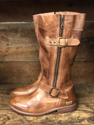 Bed Stu Women's Gogo Lug Tan Rustic Wide Calf Boots F321017 TNRS - Painted Cowgirl Western Store