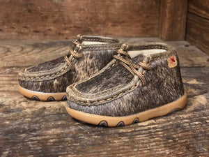 Twisted X Infant/ Brindle Hair On Cowhide Driving Mocs ICA0015 - Painted Cowgirl Western Store