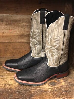 Laredo Men's Issac Black & Grey Square Toe Western Boots 7910 - Painted Cowgirl Western Store