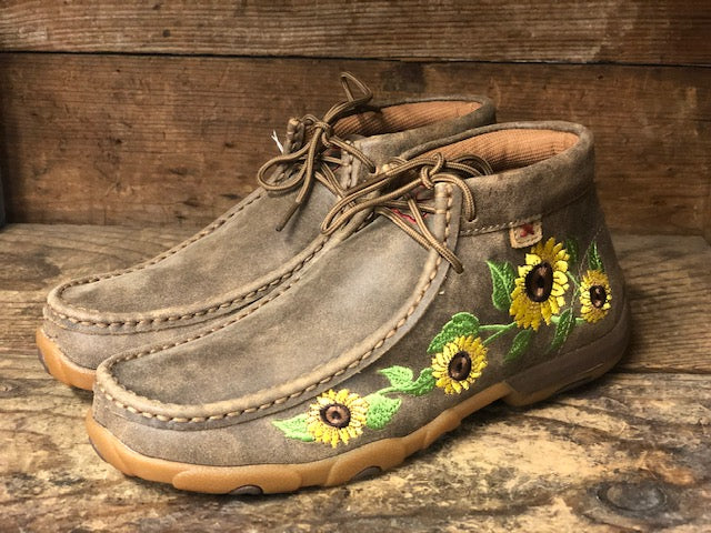 Twistex X Women's Sunflower Bomber Chukka Driving Mocs WDM0128
