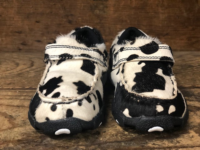 Twisted X Children's Hair On Cow Print Driving Mocs CDM0006 - Painted Cowgirl Western Store