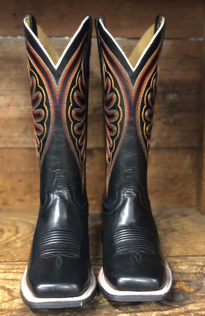 Ariat Women's Circuit Shiloh Black Square Toe Western Boots 10027361